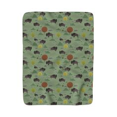 A large sized Bison themed Sherpa Fleece Throw Blanket.  A perfect item to cozy up with on the couch for an evening of comfort.  #fleeceblanket #bison #throwblanket #kidsblanket #kids #kidsdecor