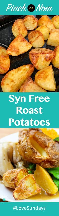 Syn Free Roast Potatoes Slimming World Slimming World Tips, Slimming World Dinners, Slimming World Recipes Syn Free, Slimming Eats, Slimming Word, Healthy Eating Recipes, Vegetarian Recipes, Cooking Recipes, Healthy Food