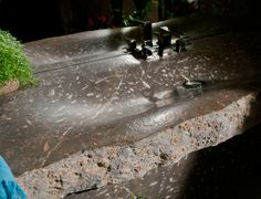 Unique Erosion designed by Miguel Herranz | Nerinea | The Erosion sink emphasizes the beauty of the stone with a sculptural gesture that evokes the action of water as it gently brings about the natural process of erosion | sink | bath | design | marble | natural stone | bathroom decor | wash basin | interior design | diseño | piedra natural | lavabo | jurassic | fossils | #fossils #jurassic #marble #marblesink #sink #naturalstone #design #marblelove #washbasin #diseño #piedranatural #lavabo