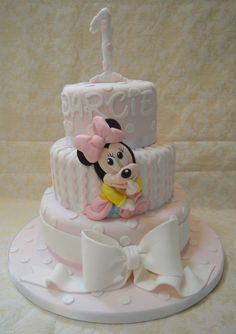 First Birthday Cakes - Baby Minnie Mouse