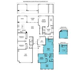 House floor plans on pinterest floor plans house plans for Multi generational home plans