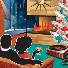 Nothing says Christmas in Palm Springs better than a mid-century modern Christmas card.