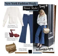 """""""Street Style: NYFW SS16-Day 4. Always Judging"""" by hamaly ❤ liked on Polyvore featuring J.W. Anderson, StreetStyle, NYFW, BloggerStyle, fashionWeek and PolyvoreNYFW"""