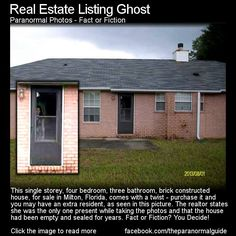 The realtor states she was alone when taking these pics to list this house in Milton , FL.  The home had been vacant for a couple years after the previous owner had died.