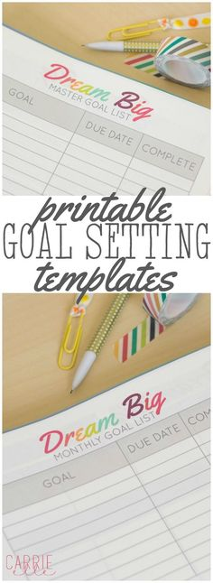 Printable Goal Setting Template - sort out your goals and create plans for reaching them with these free printable goal trackers!