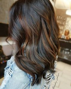 Long Bob With A Hint Of Copper