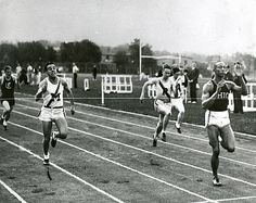 March 9, 1935 -Jesse Owens of Ohio State University arrived on the national stage in this track meet by breaking a sprint record that had stood for seven years. From this moment on, the 21-year-old Owens dominated track and field, his career reaching its zenith when he won four gold medals at the 1936 Berlin Olympics.