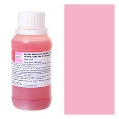 Aerografo : Colorante alimentare perlato per aerografo rosa Modecor 40gr