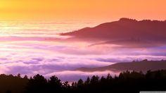 "This free inspiring wallpaper ""Foggy and misty hills"" is under Nature, Dusk, Hills Landscape Wallpaper, Nature Wallpaper, Unicorn Wallpaper Cute, Buddha Art, 4k Uhd, Computer Wallpaper, Landscape Photos, Deco, Beautiful Landscapes"