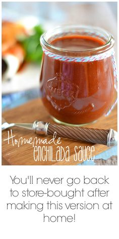 This easy homemade enchilada sauce takes just a few minutes to make, and tastes worlds better than anything you can buy in a can.