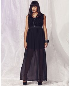Or maybe this? Sheer Skirt Maxi Dress #plussize #bacheloretteparty
