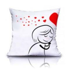 Cojín: Ella. San Valentín Small Pillows, Pillow Fight, Stick Figures, Dremel, Just Married, Beige, Grey, Hello Kitty, Snoopy