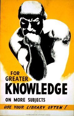 For Greater Knowledge, WPA Poster