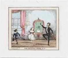 Dancing master: From 1830′s George Cruikshank series entitled Dancing Lessons