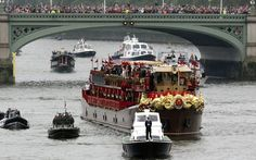 The Royal barge, the Spirit of Chartwell, during the Diamond Jubilee
