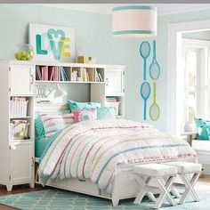 "Make your tween's room a little more accessible for ""grown-up"" playdates."