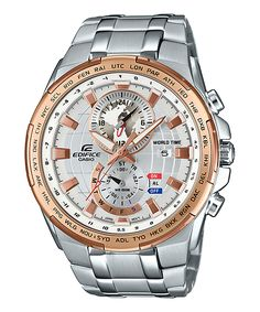Edifice gray, gold, black EFR-550-2