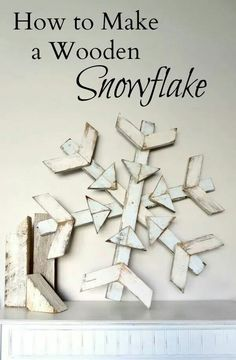 Reclaimed Wood Snowflake DIY: How to Make a Wooden Snowflake - using reclaimed wood. Great post has Crafts To Sell, Holiday Crafts, Holiday Fun, Diy Crafts, Holiday Decor, Paper Crafts, Wood Snowflake, Snowflake Craft, Paper Snowflakes