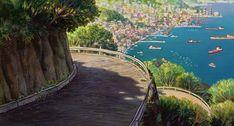 The Spirit of Ghibli World Wallpaper, Wallpaper Backgrounds, Computer Wallpaper, Bts Wallpaper, Anime Pictures, Studio Ghibli Art, Fan Art, Landscape Illustration, Anime Scenery