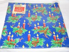 Vintage Ben Mont Christmas Candles Gift Wrap Wrapping Paper NIP T18 | eBay