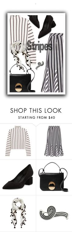 """Vertical stripes"" by noconfessions ❤ liked on Polyvore featuring Maje, Altuzarra, Alexander Wang, Marni and NOVICA"