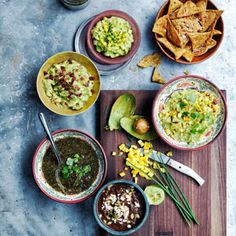 There's no better way to serve a crowd than with this DIY guacamole bar, which comes from avocado aficionado Gaby Dalkin.