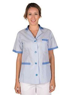 Uniformes, Ropa y Batas para limpieza - Ropa laboral - Vestuario ... Beauty Uniforms, Maid Uniform, Button Down Shirt, Men Casual, Shirt Dress, Mens Tops, Medical, Shirts, Dresses