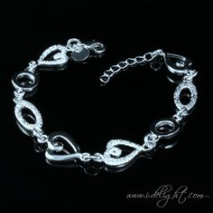 Alloy + 925 Sterling Silver + High Quality Polishing + Durable Colour Protector Lobster claw clasp 2.5cm extension chain  * Size: Adjustable length  * Measurements : 19.5cm  * Weight (g): 16 * ATBR017-1 * www.i-delight.com