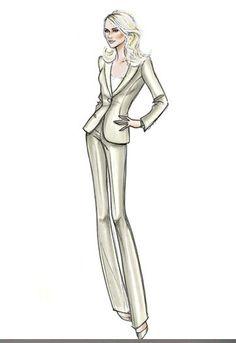 Giorgio Armanis sketch for Naomi Watts in FairGame