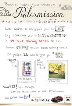 #pinning #break #pintermission #honda