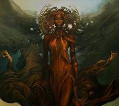 Black Love Art, Black Girl Art, Art Girl, Black Goddess, Goddess Art, Divine Goddess, African American Art, African Art, Arte Black