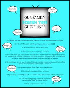 Family Screen Time Guidelines Printable! || AND a legally-drafted-3-page cell phone usage contract between parents and kids for download. Best of luck to all us parents!!