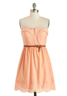ModCloth Made for Peach Other Dress. Come see more pastels here: http://www.wantering.com/womens-clothing/pastels/