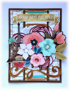Card Happy Day, Scrapbooking, Frame, Creative, Cards, Home Decor, Picture Frame, Decoration Home, Room Decor
