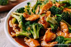 Chicken and Broccoli with Brown Sauce Chicken and Broccoli is a popular Chinese takeout dish. This chicken and broccoli recipe is the authentic restaurant version with a delicious brown sauce. Chinese Brown Sauce, Chinese Stir Fry, Chicken And Broccoli Chinese, Broccoli Chicken, Chinese Broccoli Recipe, Asian Broccoli, Chinese Chicken Recipes, Chicken And Broccoli Sauce Recipe, Chinese Food Recipes Chicken