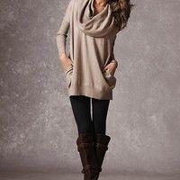 Multi-way Tunic Sweater
