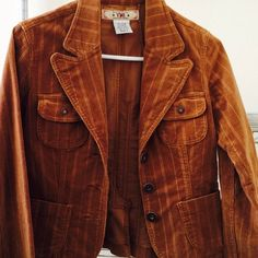 YMI Corduroy caramel color fitted jacket Feminine fitted jacket. Caramel color. Label size says medium but I feel it fits like a small. I wear small. YMI Jackets & Coats