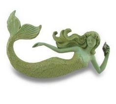 Celadon Green Distressed Finish Mermaid Wall Hanging $36.98 www.mermaidhomedecor.com