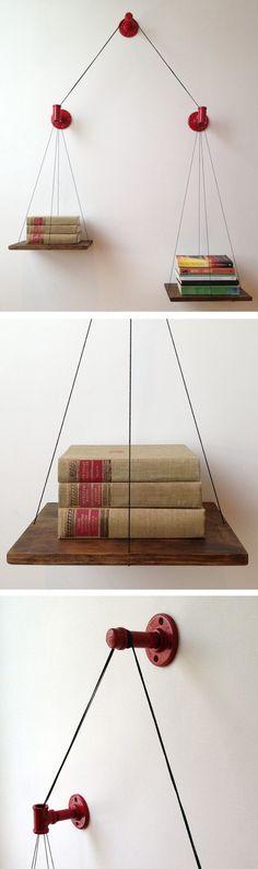 Best DIY Furniture & Shelf Ideas 2017 / 2018 Balance bookshelf -Read More – Diy Furniture, Furniture Design, Furniture Plans, System Furniture, Furniture Chairs, Garden Furniture, Bedroom Furniture, Outdoor Furniture, Ideas Prácticas