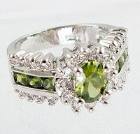 Metal	925 sterling Silver Main Stone	Peridot Main Color	green Ring Size(US)	# 6 7 8 9 10 Condition	1