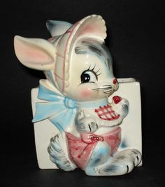 Vintage 1950s Bunny Rabbit Planter