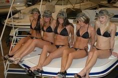 PA Bikini Team at 2008 Pittsburgh Boat Show at Lawrence Convention Center