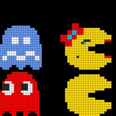 perler bead patterns pacman - Google Search