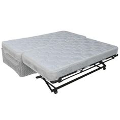 Convenient Upholstered Trundle, Top Spring & 2 Mattresses.