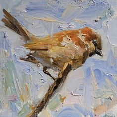 Sparrow by Derek Penix Oil ~ 6 x 6