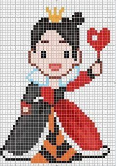Disney Queen of Hearts cross stitch.