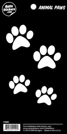 """White Paws - 4"""" x 8"""""""