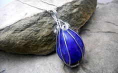 Royal Purple Quartz Necklace Wire Wrapped by CaravanOfBeads, $26.00