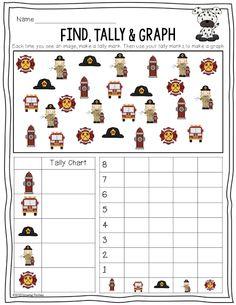Fire Safety Find, Tally & Graph FREEBIE