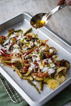 Potato Salad Without Mayo, Roasted Vegetables, Veggies, Chili, Vegetable Pizza, Healthy Recipes, Healthy Food, Brunch, Food And Drink